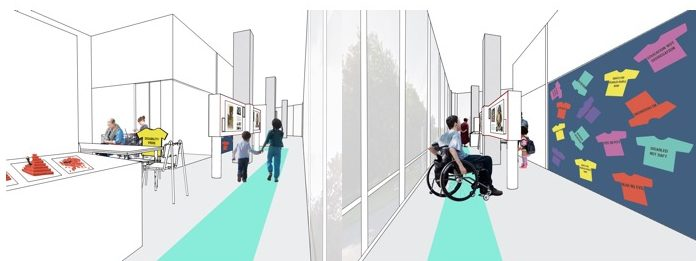 Two design drawings of the NDACA Learning Centre